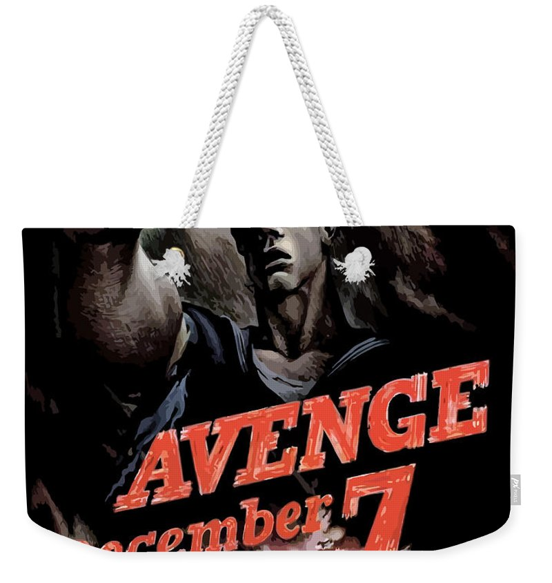Propaganda Weekender Tote Bag featuring the painting Avenge December 7th by War Is Hell Store