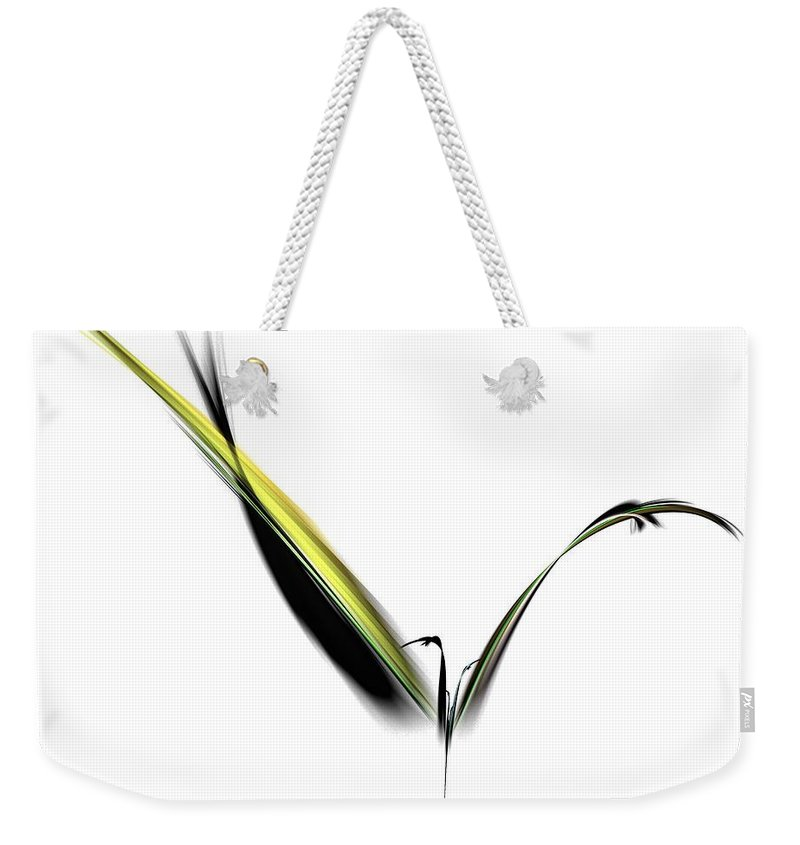 Avian Weekender Tote Bag featuring the digital art Avian Zen - Fractal Art by NirvanaBlues