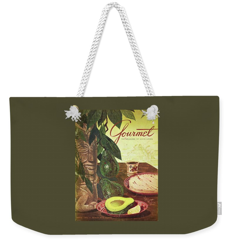 Food Weekender Tote Bag featuring the photograph Avocado And Tortillas by Henry Stahlhut