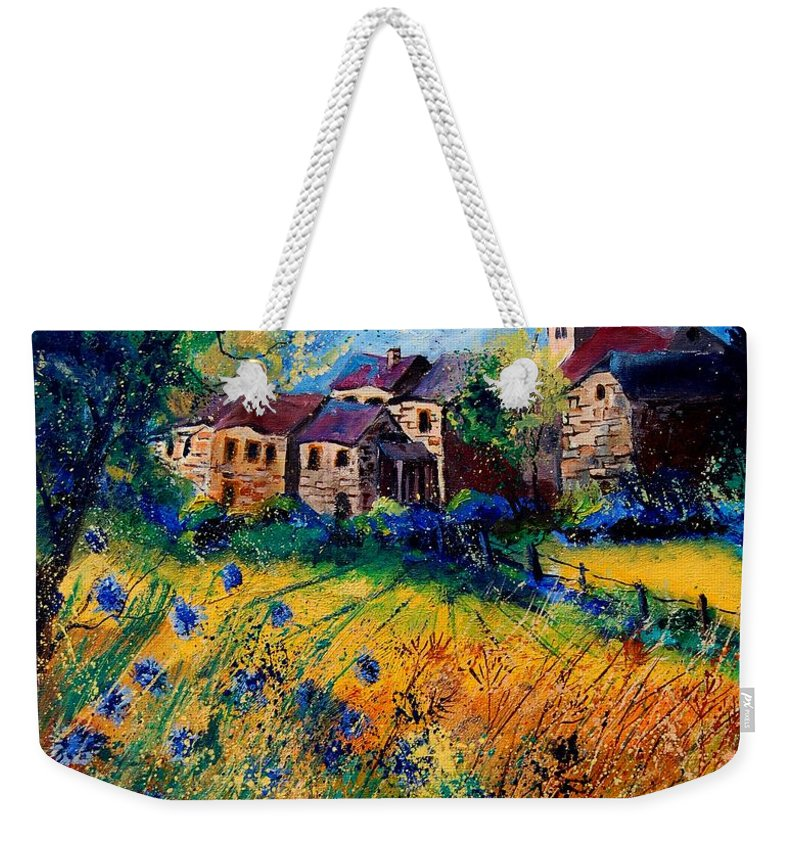 Tree Weekender Tote Bag featuring the painting Awagne 67 by Pol Ledent