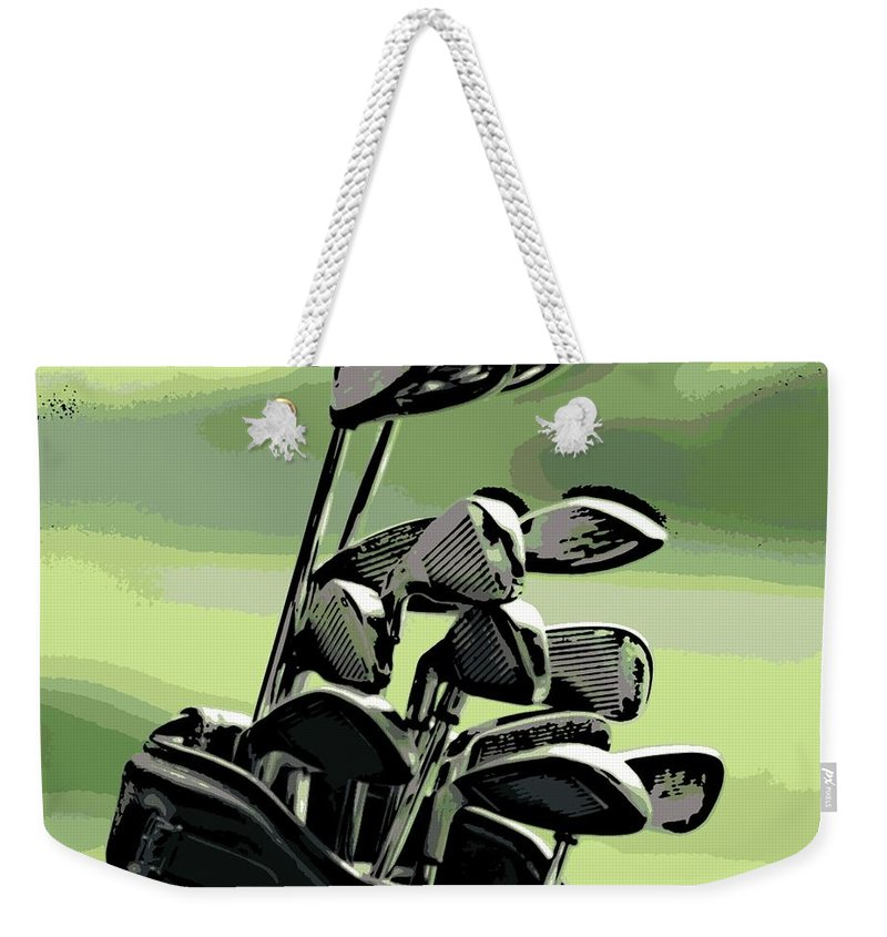 Golf Weekender Tote Bag featuring the photograph Awaiting Their Turn by George Pedro