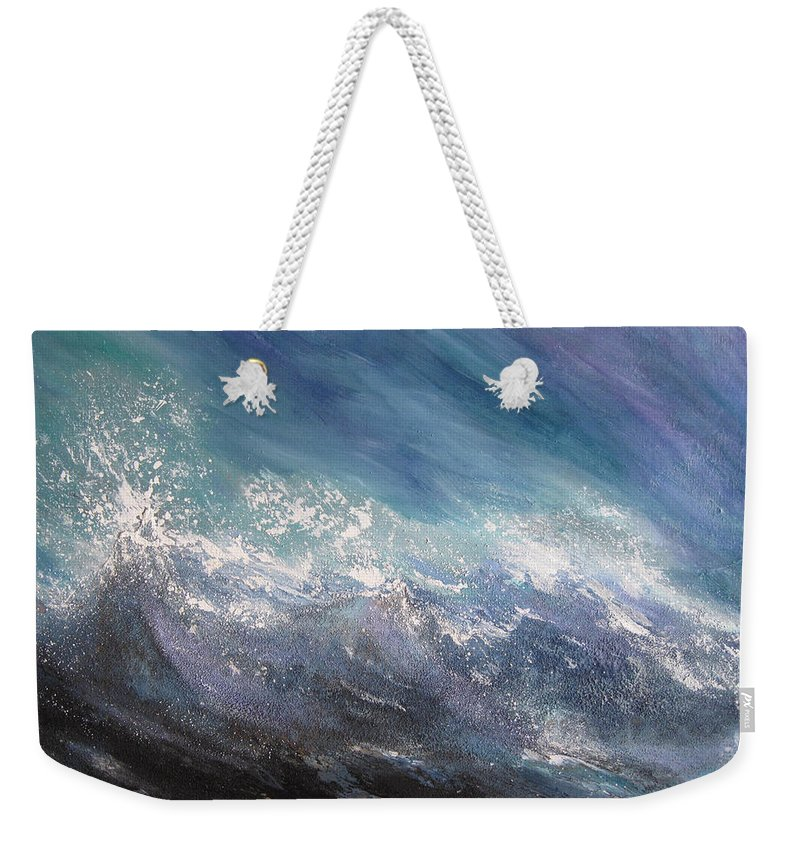 Water Weekender Tote Bag featuring the painting Awaken by Roberta Rotunda