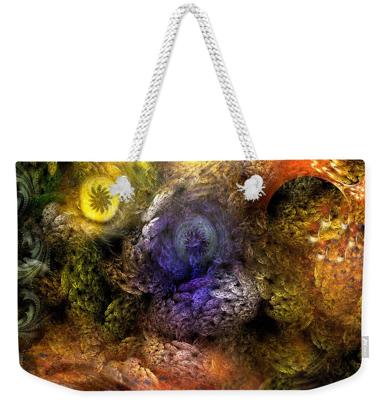Abstract Weekender Tote Bag featuring the digital art Awakening by Casey Kotas