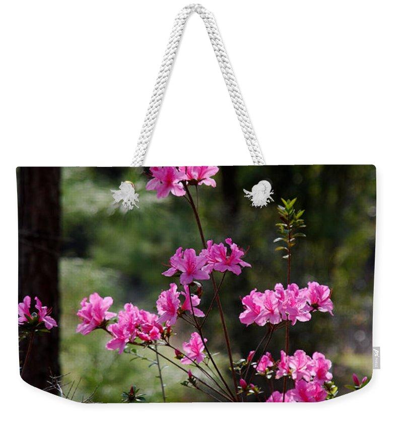 Spring Flower Weekender Tote Bag featuring the photograph Azaleas II by Susanne Van Hulst