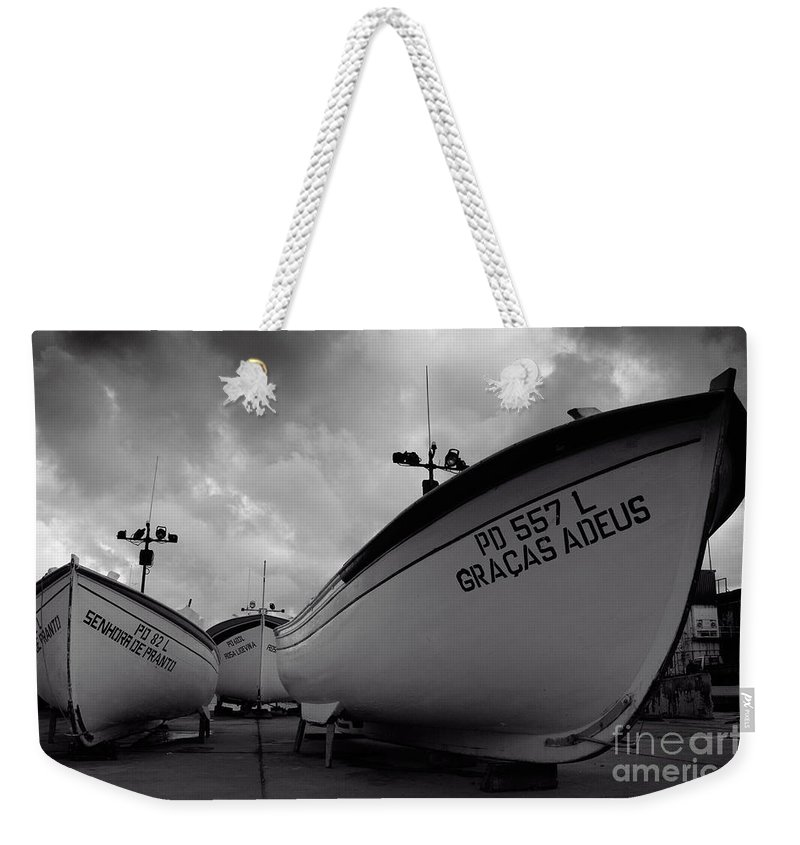 Azoren Weekender Tote Bag featuring the photograph Azorean Fishing Boats by Gaspar Avila