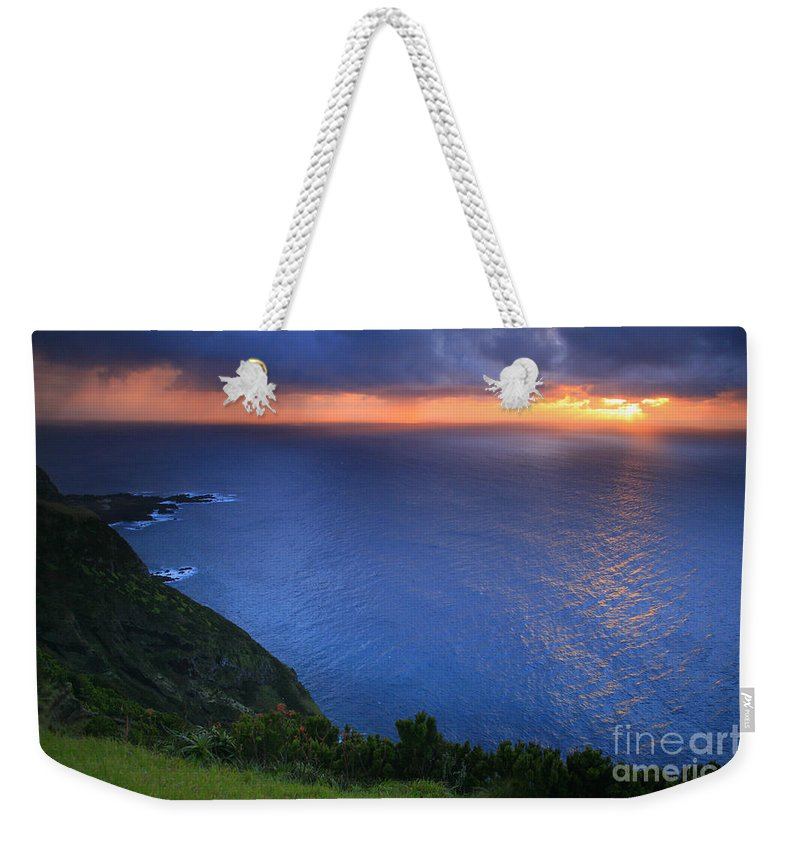 Island Weekender Tote Bag featuring the photograph Azores Islands Sunset by Gaspar Avila