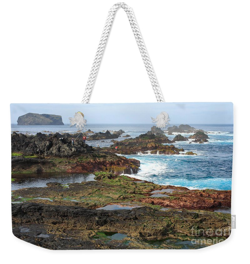 Atlantic Weekender Tote Bag featuring the photograph Azores Seascape by Gaspar Avila