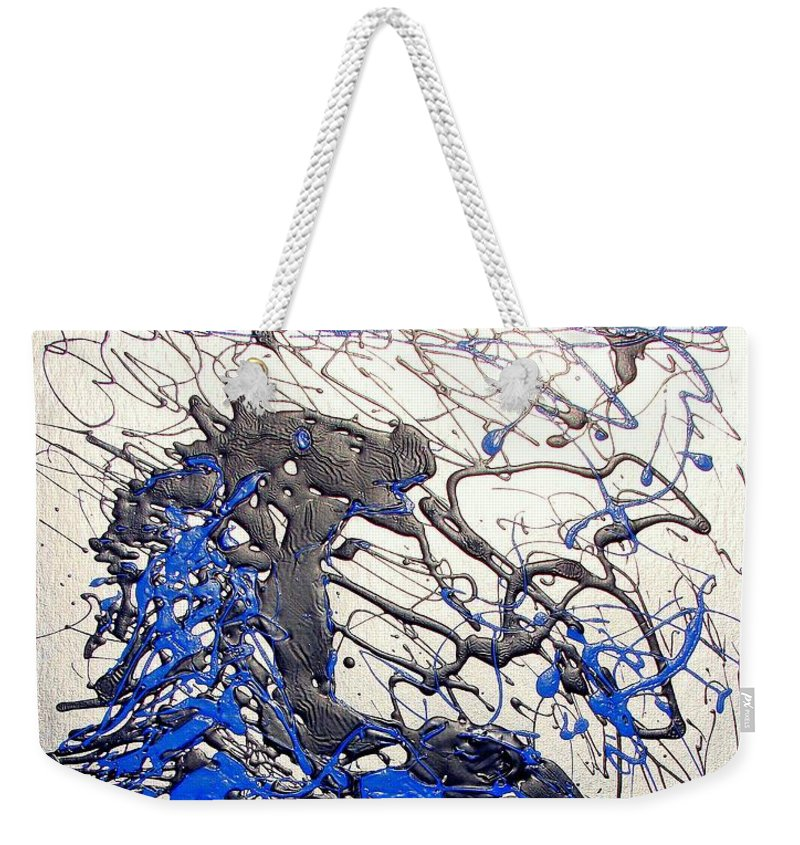 Abstract/impressionist Art Weekender Tote Bag featuring the painting Azul Diablo by J R Seymour