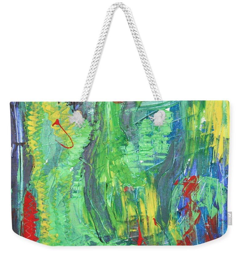 B Beautifull Weekender Tote Bag featuring the painting B-beautifull by Sitara Bruns