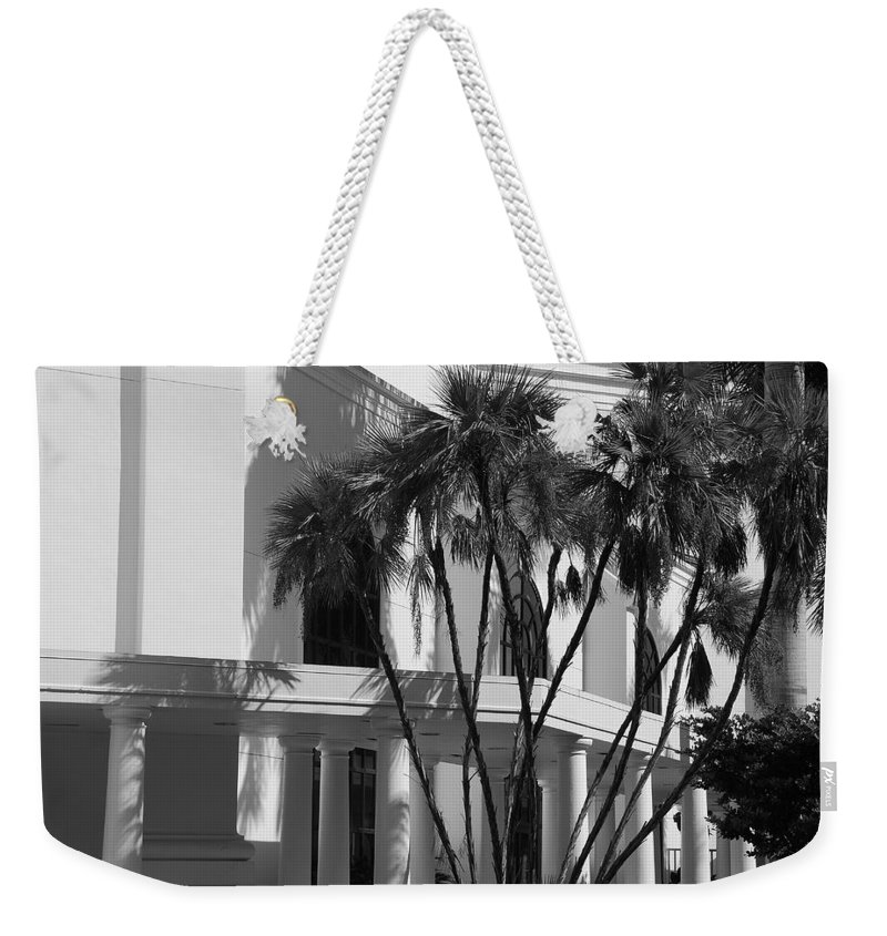 Black And White Weekender Tote Bag featuring the photograph B S Post Modern..... by Rob Hans