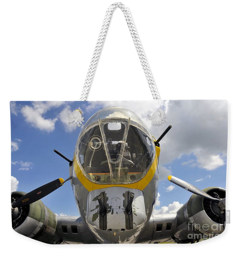 B 17 Weekender Tote Bag featuring the photograph B Seventeen Nose by David Lee Thompson