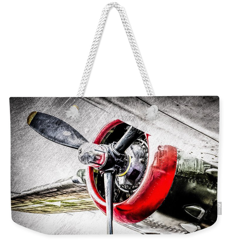 Airplane Weekender Tote Bag featuring the photograph B25 Abstract by Bob Orsillo