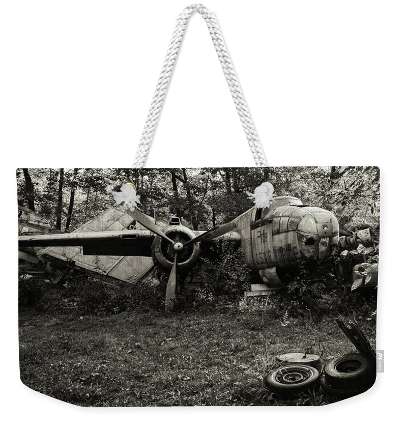 Weekender Tote Bag featuring the photograph B25 Mitchell by Jim Figgins