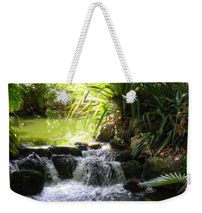 Water Weekender Tote Bag featuring the photograph Babbling Brook by Maria Bonnier-Perez