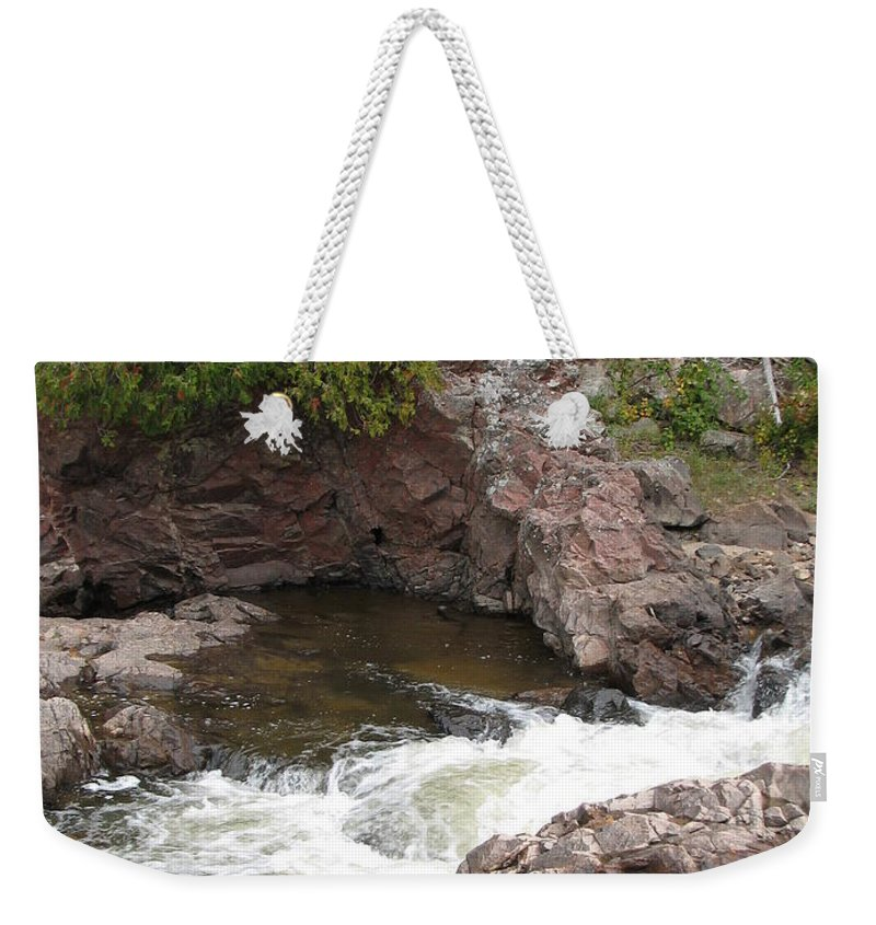 River Weekender Tote Bag featuring the photograph Babbling by Kelly Mezzapelle