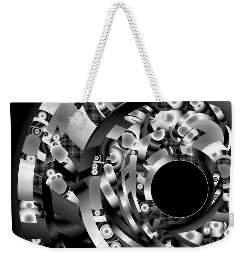 Fantasy Weekender Tote Bag featuring the digital art Babel by Lynda Lehmann