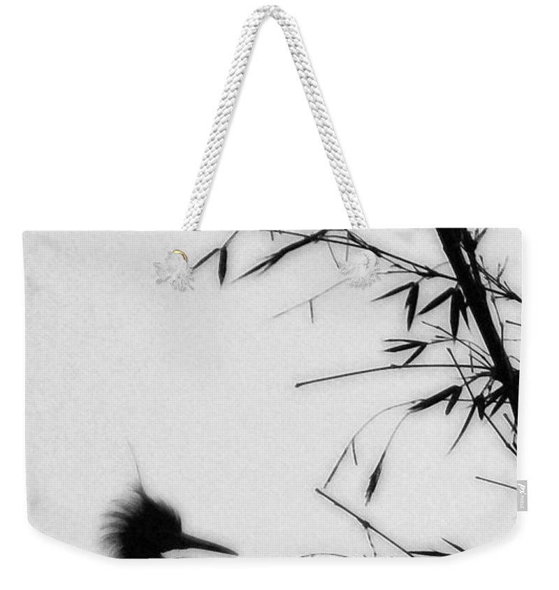 Egret Weekender Tote Bag featuring the photograph Baby Egret Waits by Linda Shafer