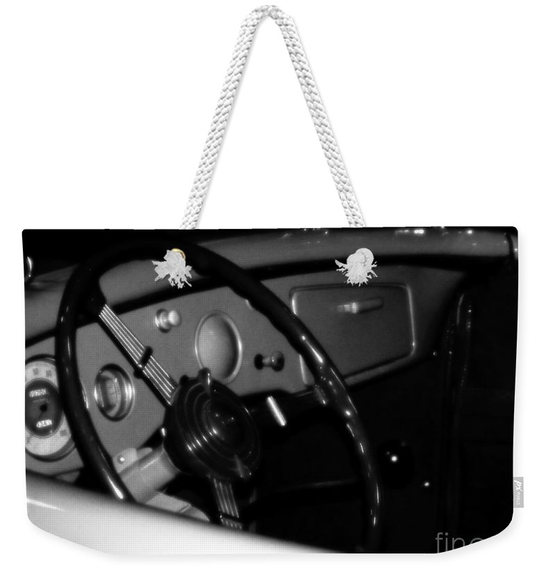 Black And White Weekender Tote Bag featuring the photograph Baby You Can Drive My Car I by RC DeWinter