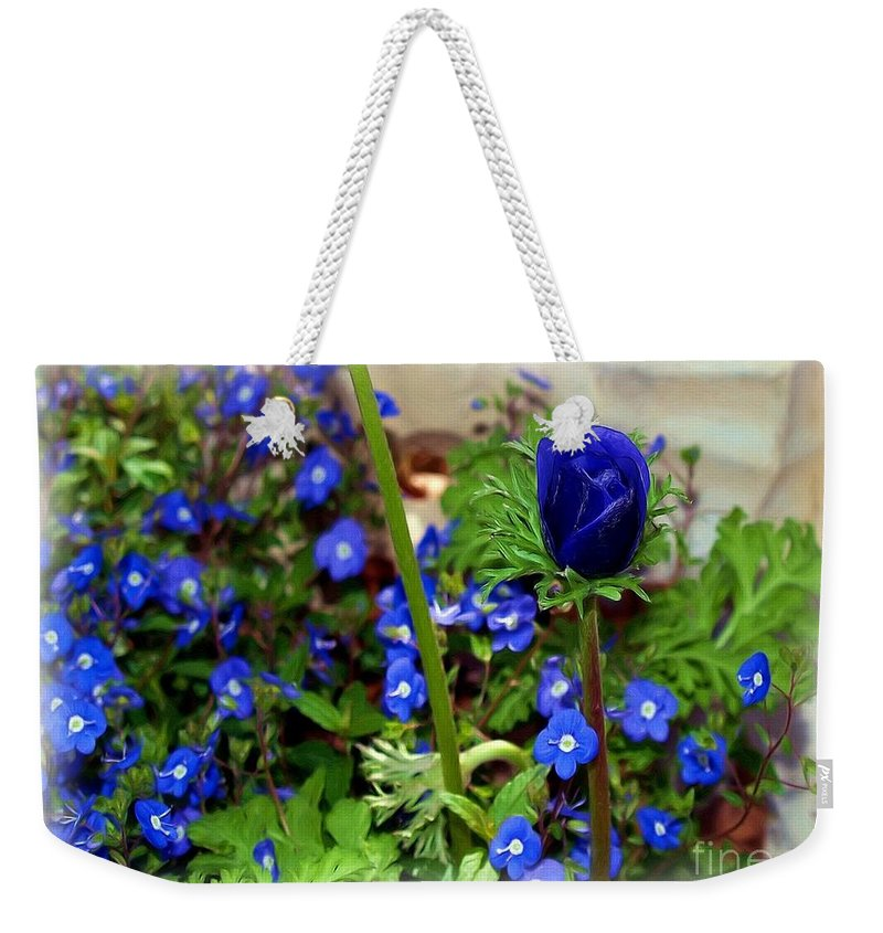 Fine Art Weekender Tote Bag featuring the painting Babys Got The Blues by Patricia Griffin Brett