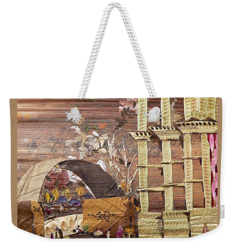 Back Door Entry For Relief To Disabled Weekender Tote Bag featuring the mixed media Back Entry by Basant soni