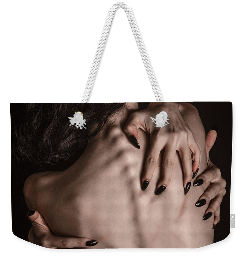 Position Weekender Tote Bag featuring the photograph Back Hands by Jt PhotoDesign