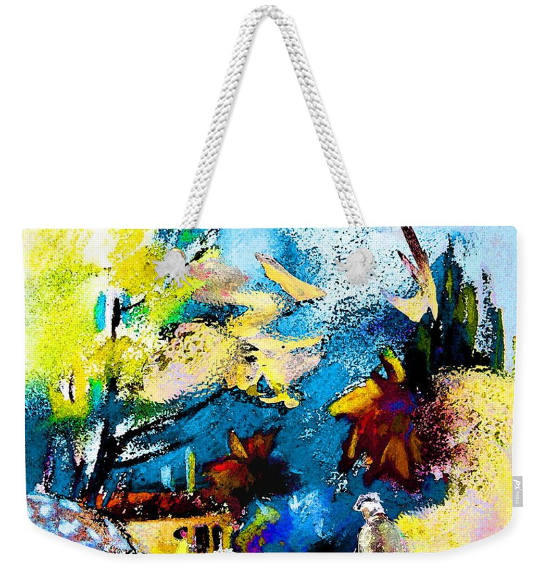 Pastel Painting Weekender Tote Bag featuring the painting Back Home by Miki De Goodaboom