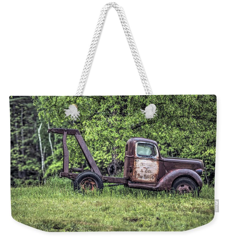Abandoned Weekender Tote Bag featuring the photograph Back In A Field by Richard Bean