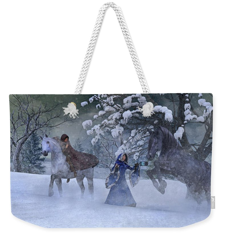Horse Weekender Tote Bag featuring the digital art Back In The Day by Betsy Knapp