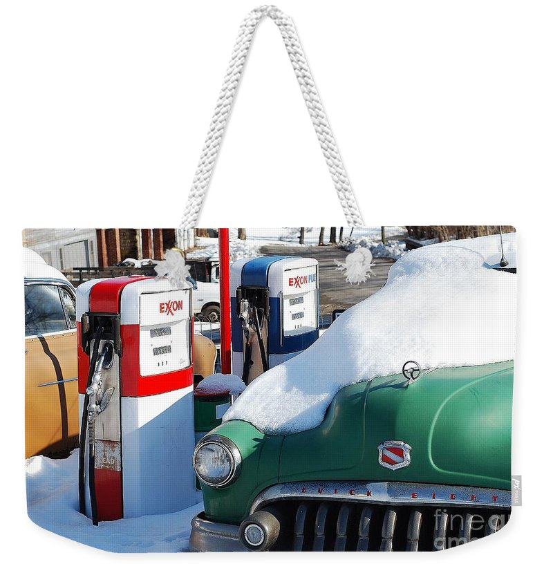 Old Car Weekender Tote Bag featuring the photograph Back In The Day by Todd Hostetter