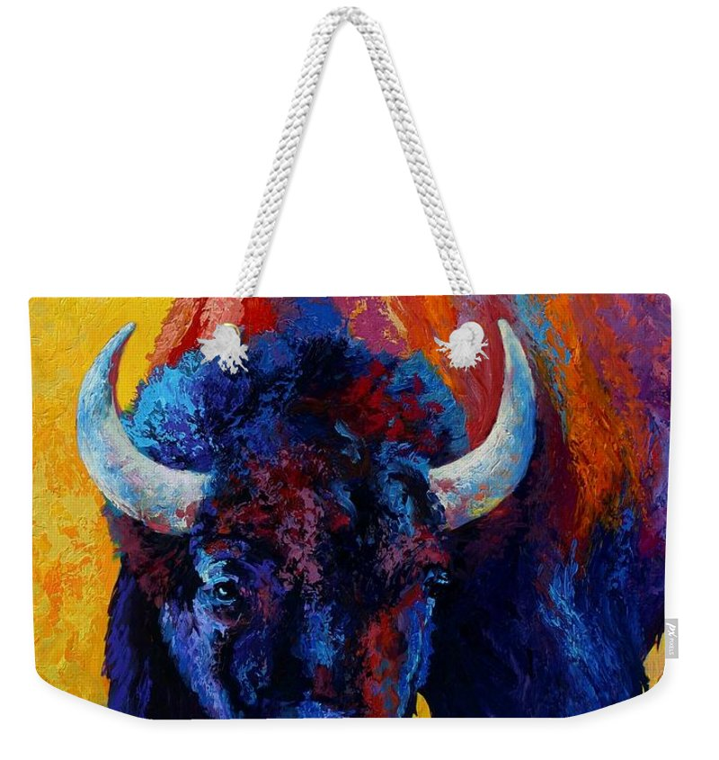 Wildlife Weekender Tote Bag featuring the painting Back Off by Marion Rose