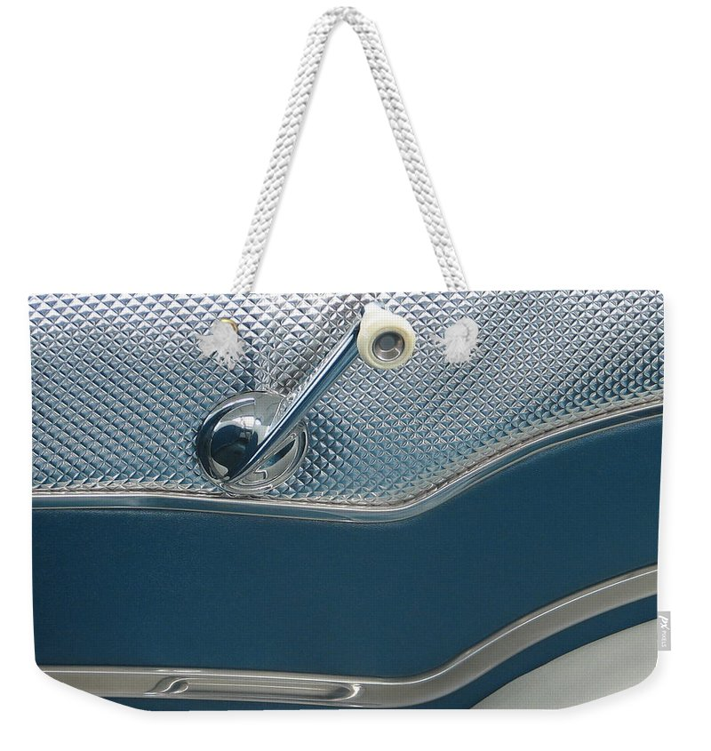 Pontiac Weekender Tote Bag featuring the photograph Back Seat by Kelly Mezzapelle