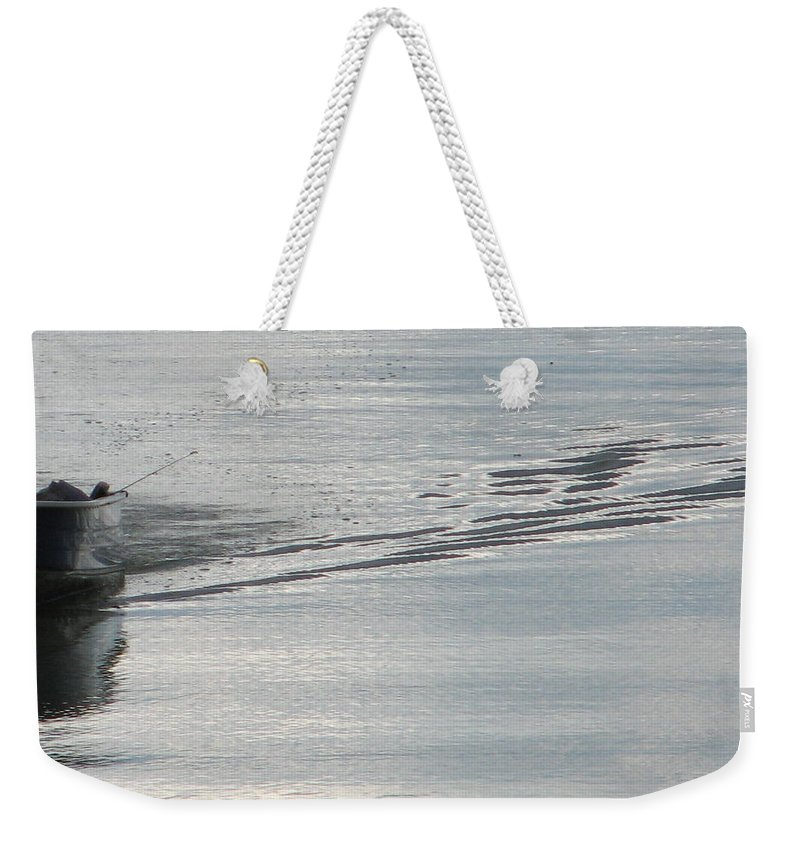 Lake Weekender Tote Bag featuring the photograph Back To The Dock by Kelly Mezzapelle