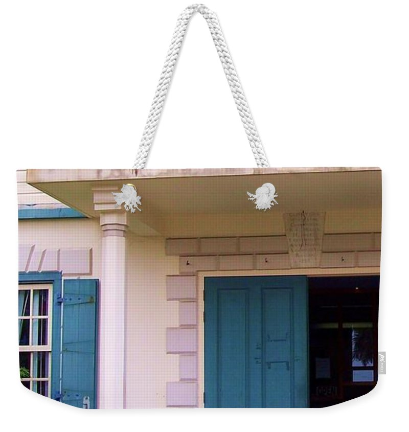 Building Weekender Tote Bag featuring the photograph Bad Day In Court by Debbi Granruth
