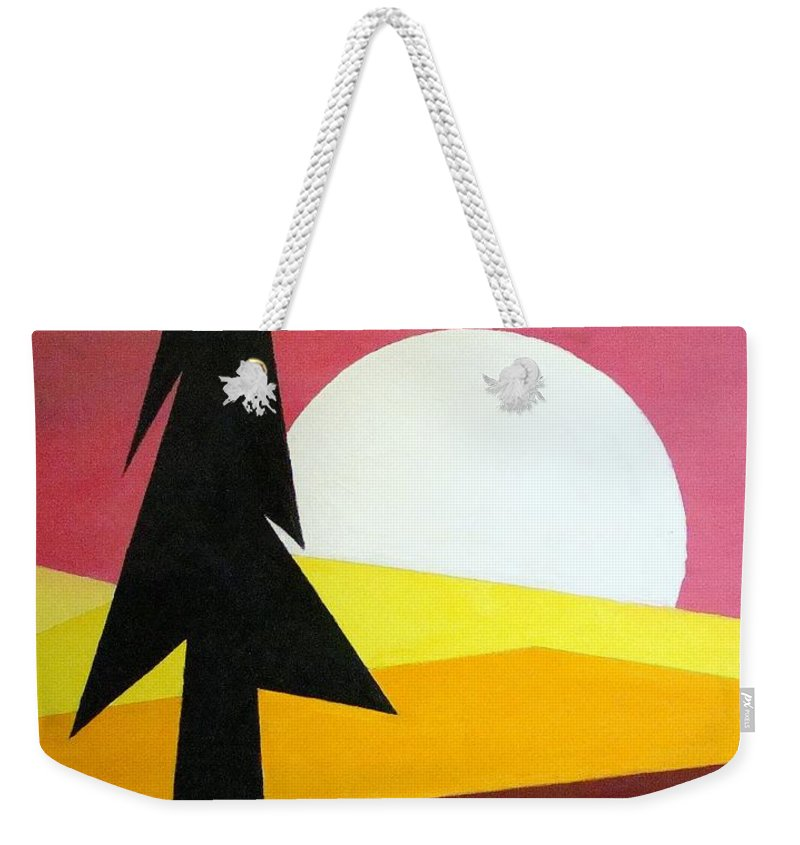 Impressionist Painting Weekender Tote Bag featuring the painting Bad Moon Rising by J R Seymour