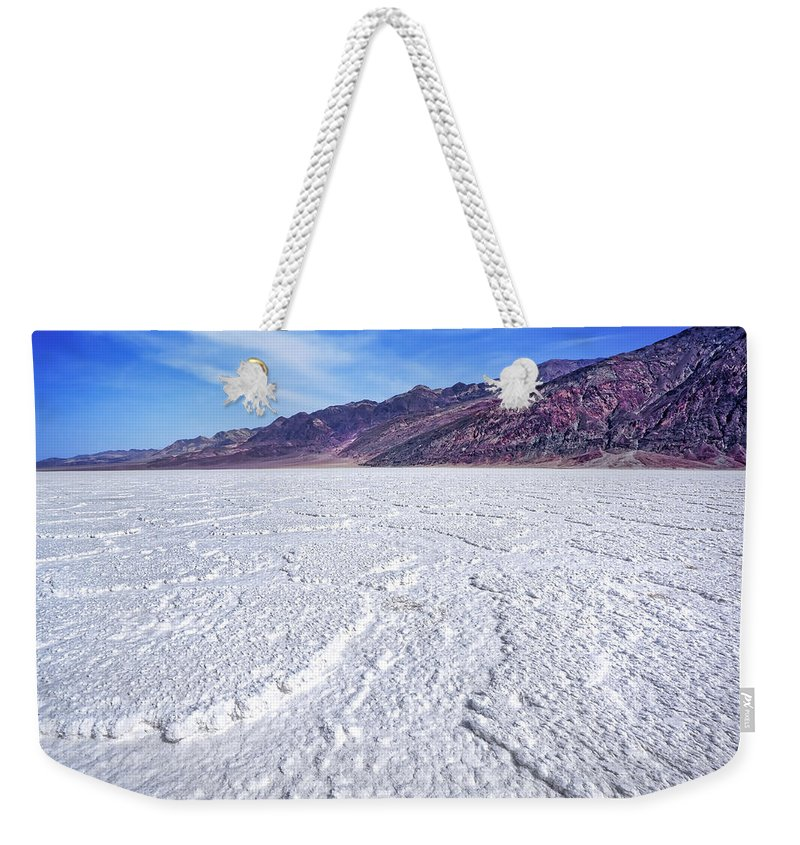 Badwater Weekender Tote Bag featuring the photograph Badwater by Kelley King