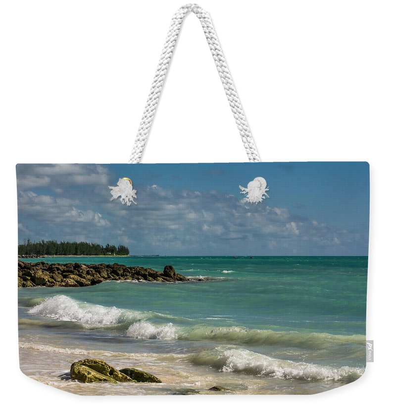 Beach Weekender Tote Bag featuring the photograph Bahamas Beach by Zina Stromberg