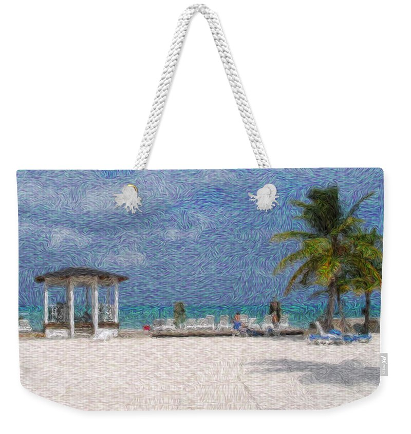 Lanscapes Weekender Tote Bag featuring the digital art Bahamas by Julie Niemela