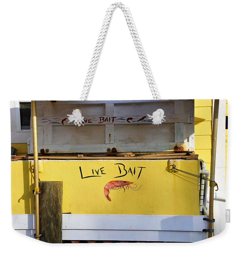 Fine Art Photography Weekender Tote Bag featuring the photograph Bait Box by David Lee Thompson