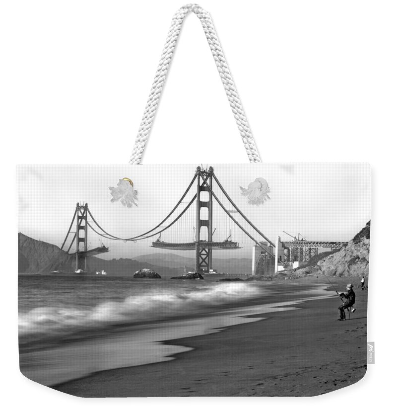 1930s Weekender Tote Bag featuring the photograph Baker Beach In Sf by Underwood Archives