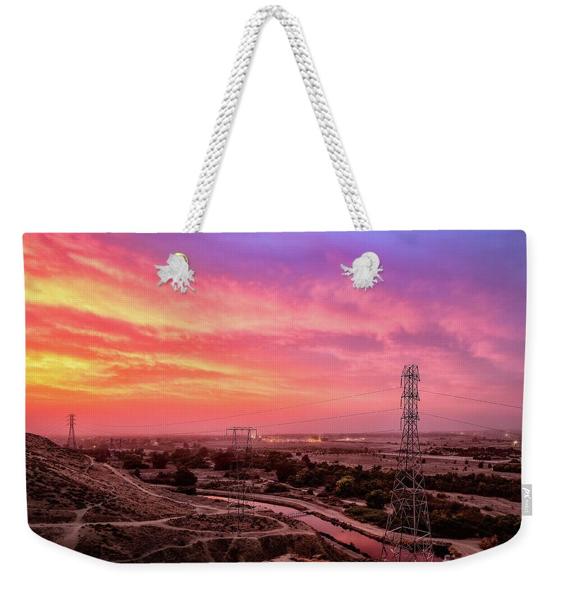 Bakersfield Weekender Tote Bag featuring the photograph Bakersfield by Anthony Michael Bonafede
