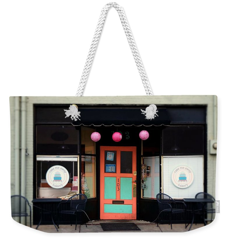 Fine Art Weekender Tote Bag featuring the photograph Bakery by Rodney Lee Williams