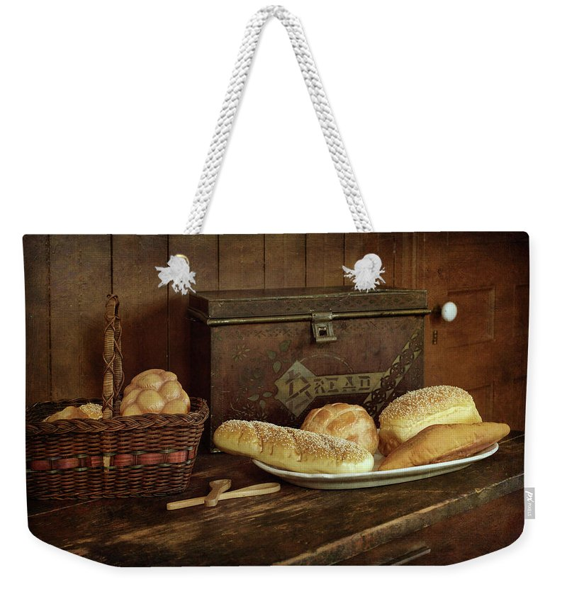 Still Life Weekender Tote Bag featuring the photograph Baking Day - Bread by Nikolyn McDonald