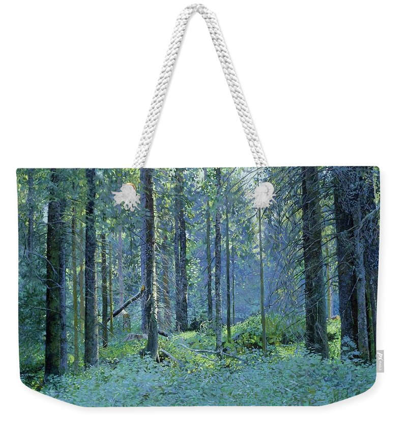 Balaam Weekender Tote Bag featuring the painting Balaam.thick Of The Forest by Simon Kozhin
