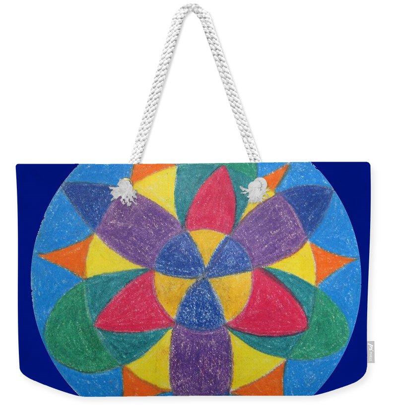 Mandala Weekender Tote Bag featuring the drawing Balance by Corynne Hilbert