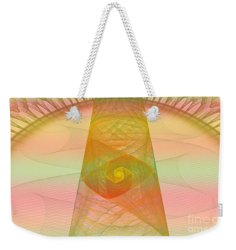 Digital Weekender Tote Bag featuring the photograph Balance Of Energy by Deborah Benoit