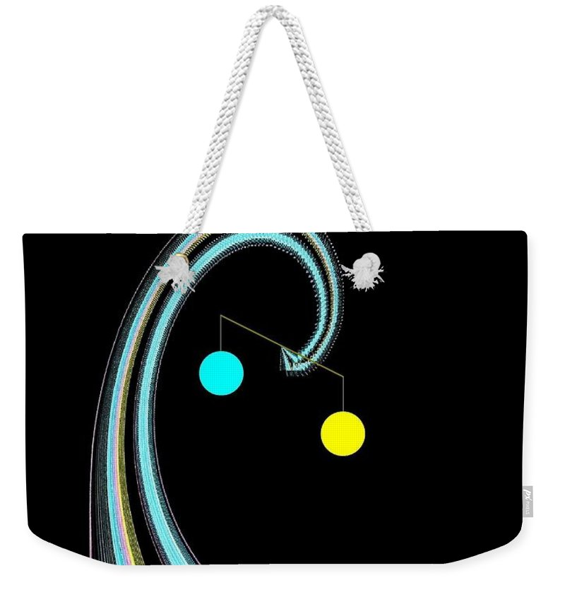 Abstract Weekender Tote Bag featuring the digital art Balance by Will Borden