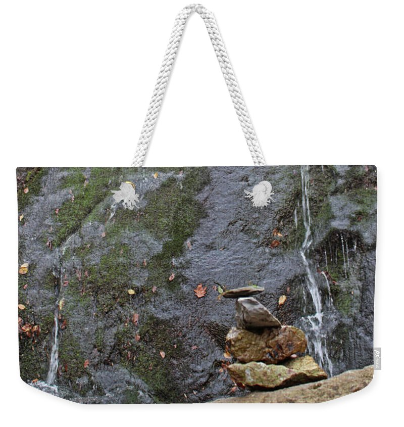 Water Fall Weekender Tote Bag featuring the photograph Balanced Life by Paul A Williams
