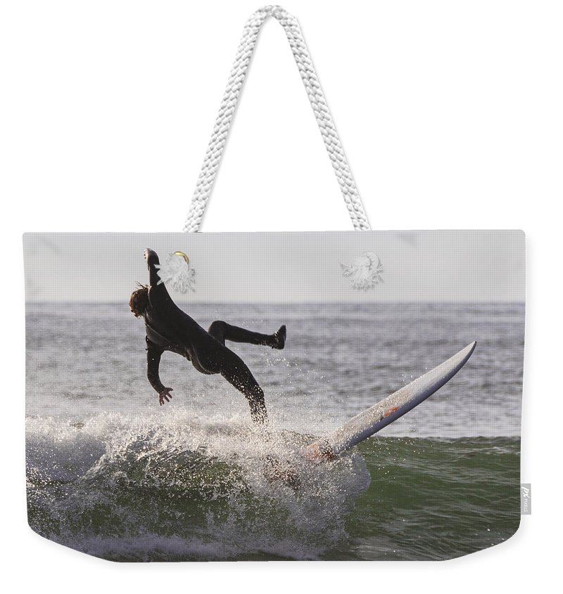 Natanson Weekender Tote Bag featuring the photograph Balanced by Steven Natanson