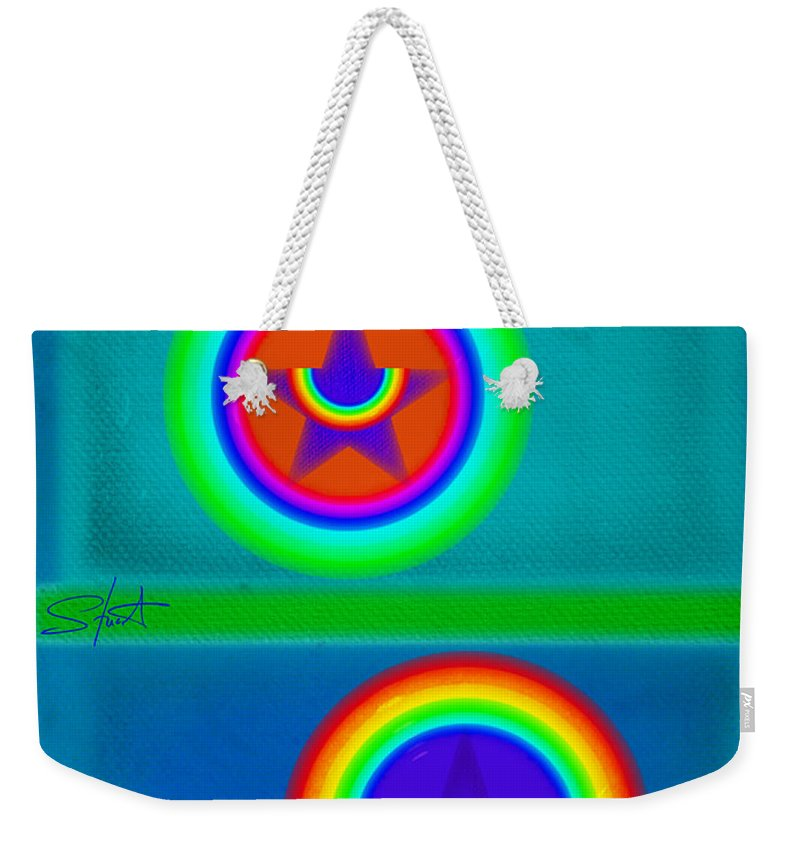 Balance Weekender Tote Bag featuring the painting Balancing Act by Charles Stuart