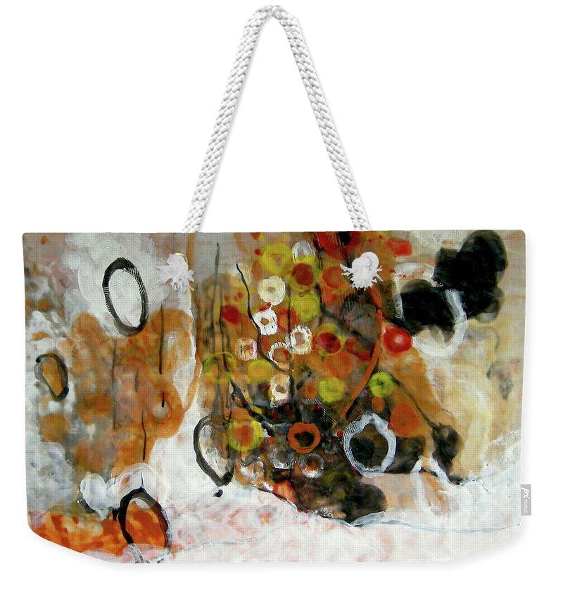 Balance Weekender Tote Bag featuring the painting Balancing Freedom-1 by Antoaneta Melnikova- Hillman